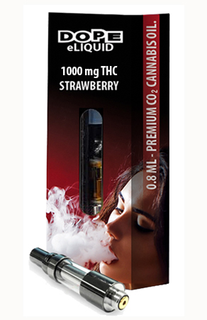 Dope-eLiquid-1000mg-Strawberry-cartridge